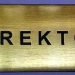 Mesing tablica za oznaku direktorske kancelarije