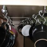 Držač šolja za kuhinju sa kukama od mesinga ili prohroma