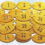 Brojevi od mesinga za oznaku stanova, hotelskih soba