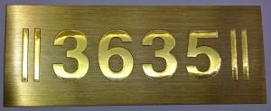Mesing tabla sa brojevima za hotelske sobe