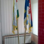 Držač za zastave od mesinga podni